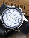 Hommes Montre de Sport Montre Habillee Montre Bracelet Montre porte-cles Quartz Silikon Bande Cool Pour tous les jours Noir Blanc Bleu