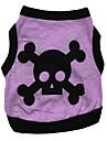 Dog Shirt / T-Shirt / Vest Orange / Green / Purple / Gray Dog Clothes Summer Skulls Fashion / Halloween