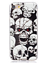 Case For Apple iPhone X iPhone 8 Plus iPhone 5 Case iPhone 6 iPhone 7 Glow in the Dark IMD Back Cover Skull Soft TPU for iPhone X iPhone