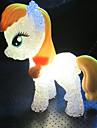 1pcs 5,5 centimetri * 14cm colorato scolorimento simpatico pony portato poco notte illumina il giocattolo per bambini regalo di Natale