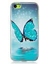 Coque Pour Apple Coque iPhone 5 iPhone 6 iPhone 7 Phosphorescent IMD Coque Papillon Flexible TPU pour iPhone 7 Plus iPhone 7 iPhone 6s