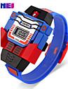 Men\'s Sport Watch Dress Watch Fashion Watch Digital Watch Quartz Digital Calendar Large Dial Silicone Band Vintage Casual Multi-Colored