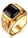 Муж. Кольцо Массивные кольца Оникс Мода Агат Титановая сталь Бижутерия Повседневные