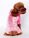 Собака Костюмы Одежда для собак Флис Весна/осень Зима Очаровательный Косплей Животные Коричневый Розовый Для домашних животных
