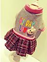 Chien Manteaux / Sweatshirt / Robe Vetements pour Chien Britannique Beige / Gris Rayon / polyester / Nylon / Coton Costume Pour les animaux domestiques Femme Decontracte / Quotidien / Sportif