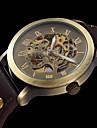 Męskie Damskie Sportowy Modny Zegarek na nadgarstek zegarek mechaniczny Nakręcanie automatyczne Grawerowane Skóra naturalna Pasmo Na co