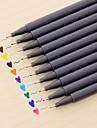 gel Στυλό Στυλό Στυλό Υδατογραφίας Στυλό, Πλαστική ύλη Κόκκινο / Μαύρο / Μπλε μελάνι Χρώματα Για Σχολικές προμήθειες Προμήθειες γραφείου Πακέτο