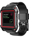 PC Rugged Protective Frame with Silicone Strap Band for Fitbit Blaze Smart Watch