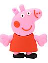 borracha Paige porco cor de rosa flash drive USB 2.0 disco de 8GB