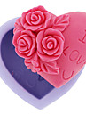 Molde Coracao Flor Gelo Chocolate Bolo para Candy Silicone Faca Voce Mesmo 3D Alta qualidade Anti-Aderente