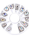 1set nail shaped white ab manicure alloy jewelry ornaments