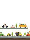 Животные Мода Транспорт Наклейки Простые наклейки Декоративные наклейки на стены, Винил Украшение дома Наклейка на стену Стена Стекло /
