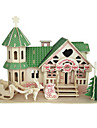 Wooden Puzzles Toys Famous buildings Chinese Architecture House Professional Level 1 Pieces