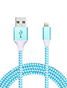 USB 2.0 Kabel 1m-1.99m / 3ft-6ft Normal / Flettet Aluminium / Nylon / Metall USB-kabeladapter Til iPad / Apple / iPhone
