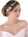 Pearl / Crystal / Fabric Tiaras / Headbands / Flowers with 1 Wedding / Special Occasion / Party / Evening Headpiece / Alloy