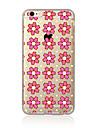 Para Transparente Estampada Capinha Capa Traseira Capinha Flor Macia TPU para AppleiPhone 7 Plus iPhone 7 iPhone 6s Plus/6 Plus iPhone