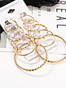 Hoop Earrings Jewelry Alloy Basic Punk Hip-Hop Round Gold Jewelry Wedding Party Daily Casual 1set