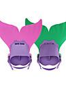 Kits para Snorkeling Fins de Mergulho Pacotes de Mergulho Equipamento de Treino Barbatanas Ajustavel Pala Curta sereia Mergulho e