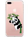 Etui Käyttötarkoitus Apple iPhone 7 / iPhone 7 Plus Läpinäkyvä / Kuvio Takakuori Piirretty / Panda Pehmeä TPU varten iPhone 7 Plus / iPhone 7 / iPhone 6s Plus