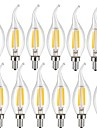 KWB 12 pcs 4W 400lm E14 Ampoules a Filament LED CA35 4 Perles LED COB Decorative Blanc Chaud Blanc Froid 220-240V