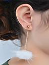 Femme Boucle d\'oreille Bijoux Pendant Mode Adorable Croix Le style mignon euroamericains Acrylique Alliage Forme de Cercle Bijoux Pour