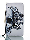 For Huawei P8 Lite (2017) Mate 9 Card Holder Wallet with Stand Flip Pattern Case Full Body Case Skull Hard PU Leather