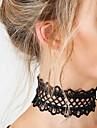 여성용 레이스 초커 목걸이 - 유니크 디자인 베이직 패션 꽃장식 목걸이 제품 결혼식 파티 특별한 때 생일 약혼 일상 캐쥬얼 스포츠