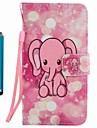 Case Cover Card Holder Wallet with Stand Flip Pattern Full Body Case With Stylu Elephant Hard PU Leather for Apple iPhone 7 Plus 7 6s Plus 6s 5s se