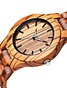 Hommes Montre Bracelet Quartz en bois Bois Bande Elegantes Beige