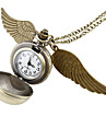Women's Ball Style with Wing Vintage Alloy Quartz Analog Necklace Watch Cool Watches Unique Watches Strap Watch