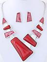 Femme Geometrique Ensemble de bijoux - Mode, euroamericains Comprendre Rouge / Bleu Pour Soiree / Quotidien