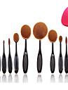 10pcs Set Pro Oval Toothbrush Shaped Foundation Face Makeup Beauty Cream Brushes