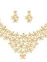Per donna Parure di gioielli - Strass, Placcato in oro Fiore decorativo Classico, Di tendenza Includere Oro Per Matrimonio Feste Occasioni speciali