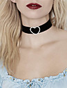 Women\'s Heart Shape Personalized Rhinestone Euramerican Fashion Choker Necklace Rhinestone Rhinestone Fabric Alloy Choker Necklace Party