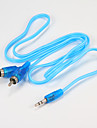 Cables audio jack rca Cable 3,5 mm male a male 2rca Cable 1 m pour editeur home theater dvd casque