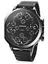 SHIWEIBAO Men\'s Luxury Military Watch Stainless Steel Watch Fashion Watch Wrist watch Calendar Multi Time Zones Punk Quartz Charm Cool Casual