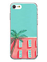 Para Case Tampa Ultra-Fina Estampada Capa Traseira Capinha Azulejos Macia TPU para AppleiPhone 7 Plus iPhone 7 iPhone 6s Plus iPhone 6
