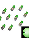 10Pcs T10 5*5050 SMD  LED Car Light Bulb Green Light DC12V