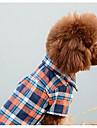 Chien Combinaison-pantalon Vetements pour Chien Tartan Orange Rouge Bleu Coton Costume Pour les animaux domestiques Homme Femme