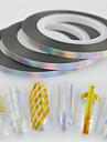 30pcs/set Etiquetas e Fitas Fita Etiqueta da folha Com Gliter Acessorio da ferramenta DIY Art DIY Nail Art Design