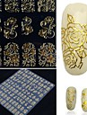 1 pcs Chique & Moderno / Elegante & Luxuoso / Fashion Etiquetas de unhas 3D Nail Art Design Diario