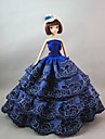 Party / Evening Dresses For Barbiedoll Lace / Satin Dress For Girl\'s Doll Toy