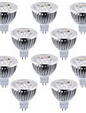 10pcs 5.5w mr16 (gu5.3) led spotlight 4 haute puissance conduit chaud / frais blanc led spotlight ampoule led lampe dc12v
