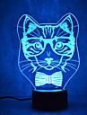 Cat Turtles Touch Dimming 3D LED Night Light 7Colorful Decoration Atmosphere Lamp Novelty Lighting Light