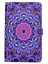 Pour samsung galaxy tab t580 t530 pu materiel en cuir bleu violet motif peint couverture protectrice plate t550 t560 t280 t350