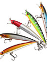 "5 pcs Hard Bait Minnow Fishing Lures Hard Bait Minnow Lure Packs g / Ounce mm / 3-1/2"" inch, Hard Plastic Plastic Sea Fishing Bait"