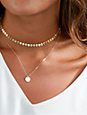 Women\'s Choker Necklaces Lariat Y Necklaces Jewelry Geometric Copper Dangling Style Pendant Euramerican Fashion Personalized Silver Gold