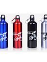 Велоспорт Бутылки для воды Велоспорт Горный велосипед Шоссейный велосипед Складной велосипед Черный Серебристый Красный СинийАлюминиевый