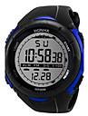 Men\'s Sport Watch Digital Watch Digital 30 m Casual Watch Cool Silicone Band Digital Black - White Black Blue
