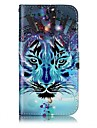For Samsung Galaxy A3(2017) A5(2017) Case Cover Card Holder Wallet Embossed Pattern Full Body Case Animal Hard PU Leather
